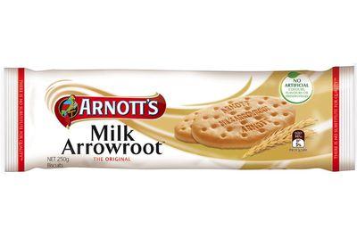 Milk Arrowroot: 35 calories/148kj per biscuit