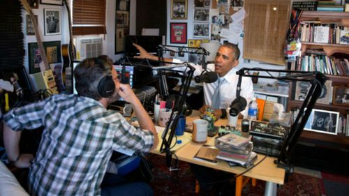 US President Barack Obama appears on the radio show 'WTF with Marc Maron.