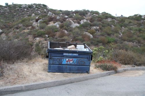 The dumpster where Quee Choo's body was found