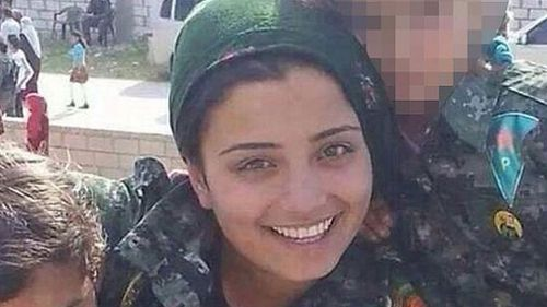 Kurdish female fighter in suicide attack on Islamic State