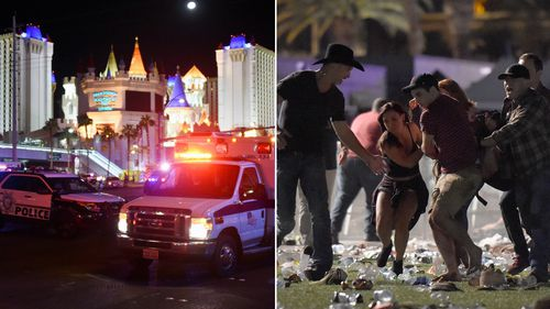Hundreds were injured in the mass shooting after a gunman opened fire on a country music festival in Las Vegas.