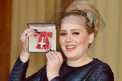 """Adele won Best Song Written for Visual Media for 'Skyfall' and tweeted from her Brighton home in England: """"Wish I was there! Thank you for the Grammy! (My 10th one! Whhaaa?) Have a wonderful night. I'm in bed, now feeling very restless x.""""<br/><br/>View the Grammy highlight performances on the next slides..."""
