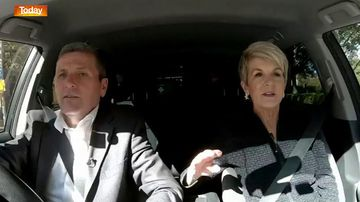 Chris Uhlmann and Julie Bishop went for a drive for some campaign carpool karaoke.