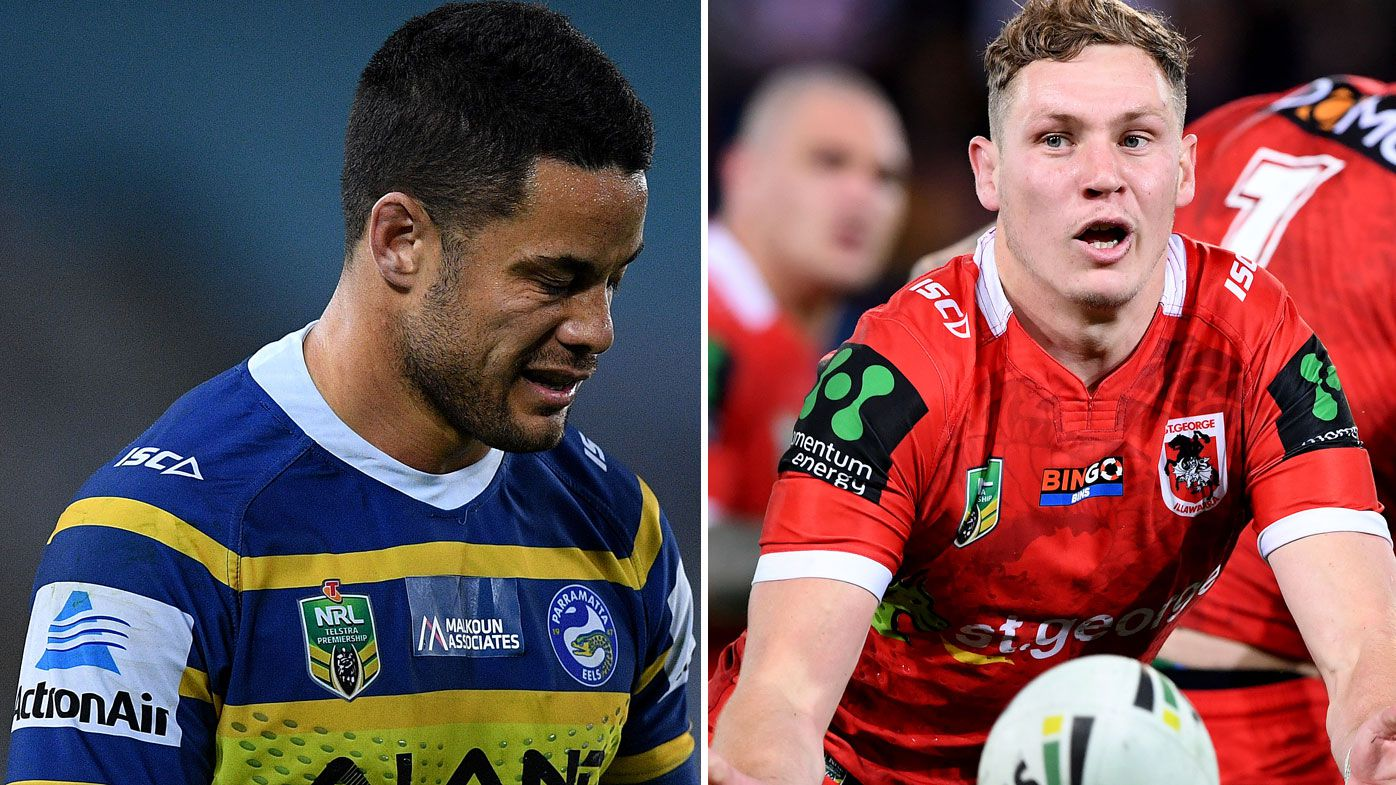 Jarryd Hayne and Kurt Mann