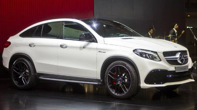 The new Mercedes GLE Coupe SUV. (AAP)
