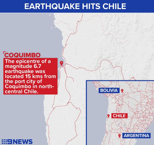 Two dead in Chilean earthquake