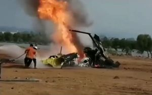 Four dead after Indonesian helicopter erupts in flames