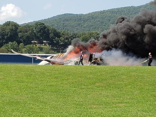 Earnhardt, his wife and three others escaped serious injury when their plane crashed off a runway and burst into flames.