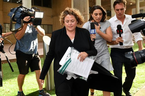 Former NAB executive staffer Rosemary Rogers is accused of accepting bribes during the latter years of her two-decade career at the bank and has been granted strict bail. (AAP Image/Dan Himbrechts)