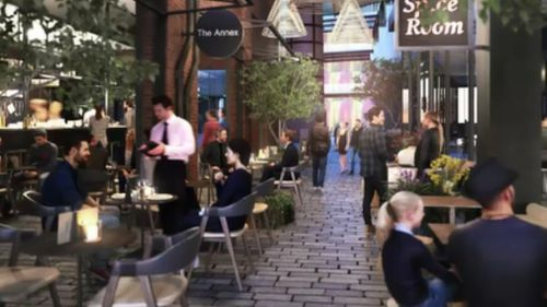 The new development will include an open-air plaza. (9NEWS)