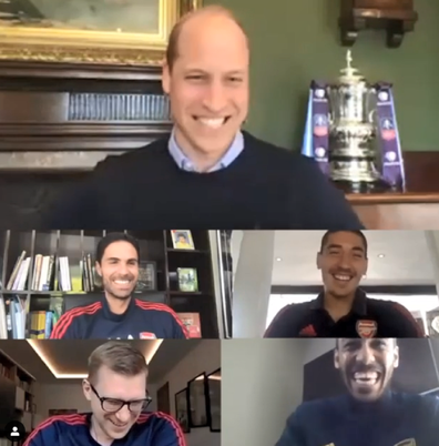 The royal spoke with players about how they support each other's good mental health.