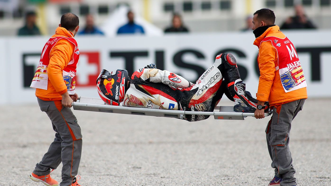 Johann Zarco escapes serious injury following horrifying MotoGP collision