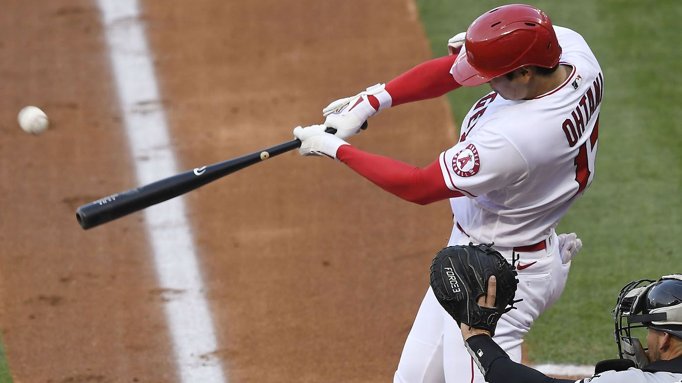 Shohei Ohtani pitches 100mph, homers during 118-year Major League Baseball first