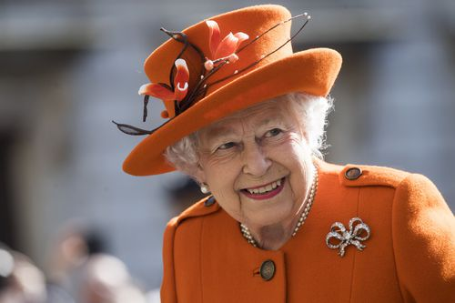 Queen Elizabeth II arrives for a visit to the Royal Academy of Arts in Central London last month. (AAP)
