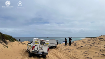 Human remains found in sand dunes in South Australia.