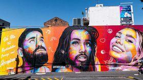Stunning Mardi Gras-inspired murals honour 'Rising Heroes'