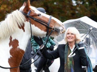 Camilla doesn't let the rain dampen her outing, October