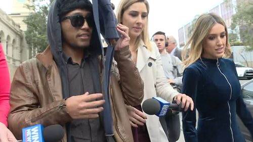 Wollongong University student Rico Auliputra today received 250 hours of community service for filming his housemates in the shower with a hidden camera. Picture: 9NEWS.