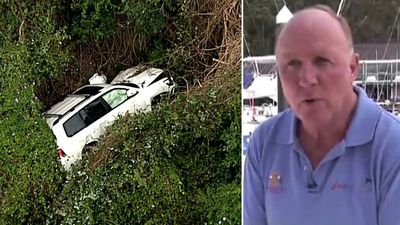 'Incredible': Famous author climbs out of car after 30m plunge