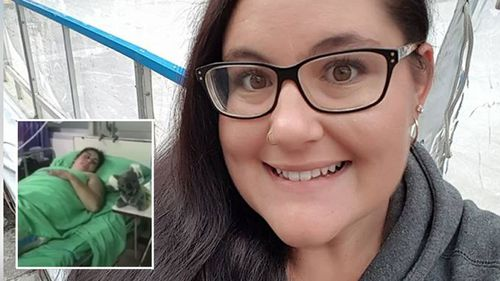 Stacey Liddle fears being held hostage over her hospital bill. (Supplied)