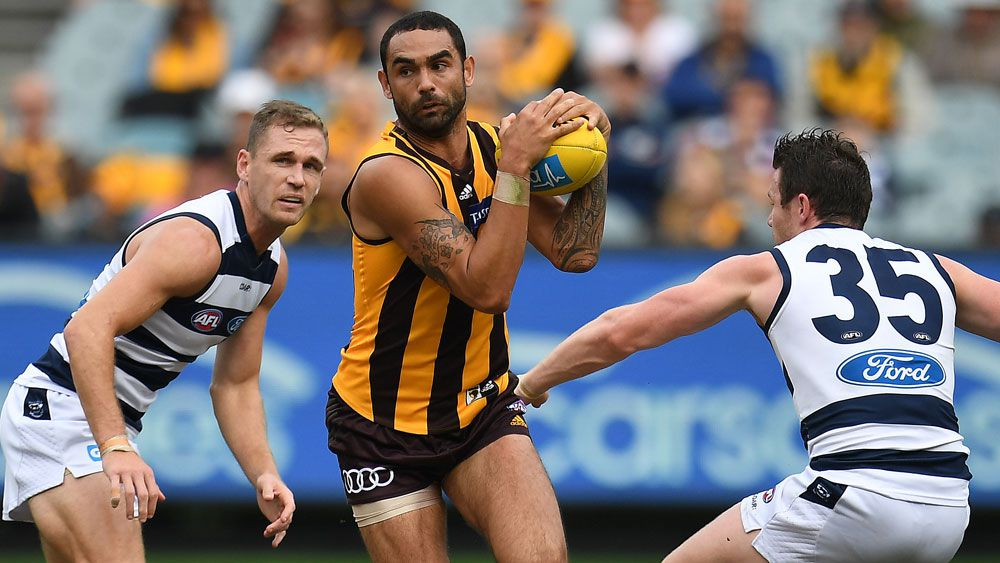 Shaun Burgoyne and the Hawks had another day to forget, (AAP)