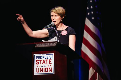 Cynthia Nixon is set to run for New York Governor against Andrew Curomo in the Democratic primary in September. (AAP)