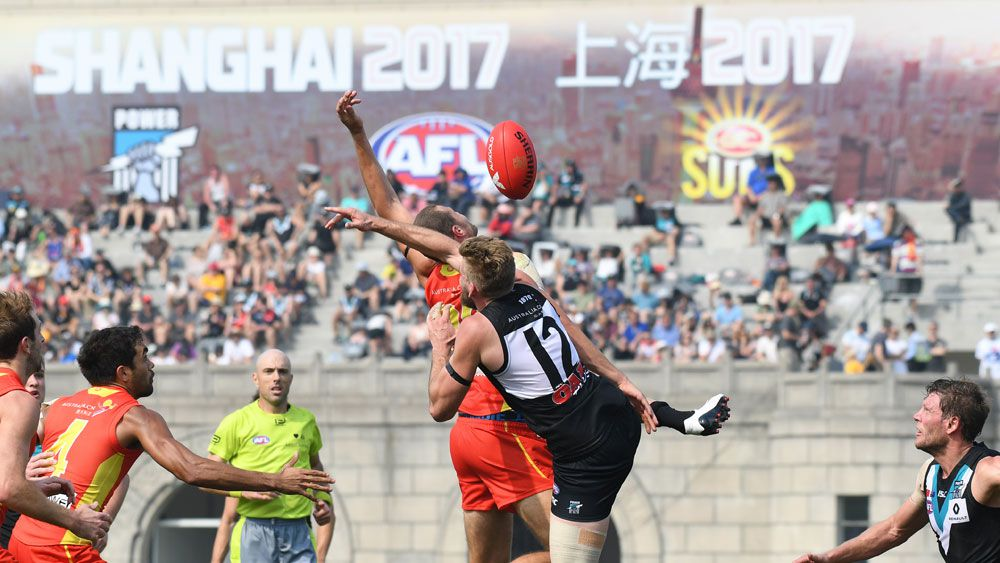 AFL boss Gillon McLachlan rates Shanghai match between Port Adelaide and Gold Coast a success