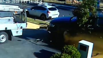 Barefoot driver flees after out-of-control ute ploughs into home