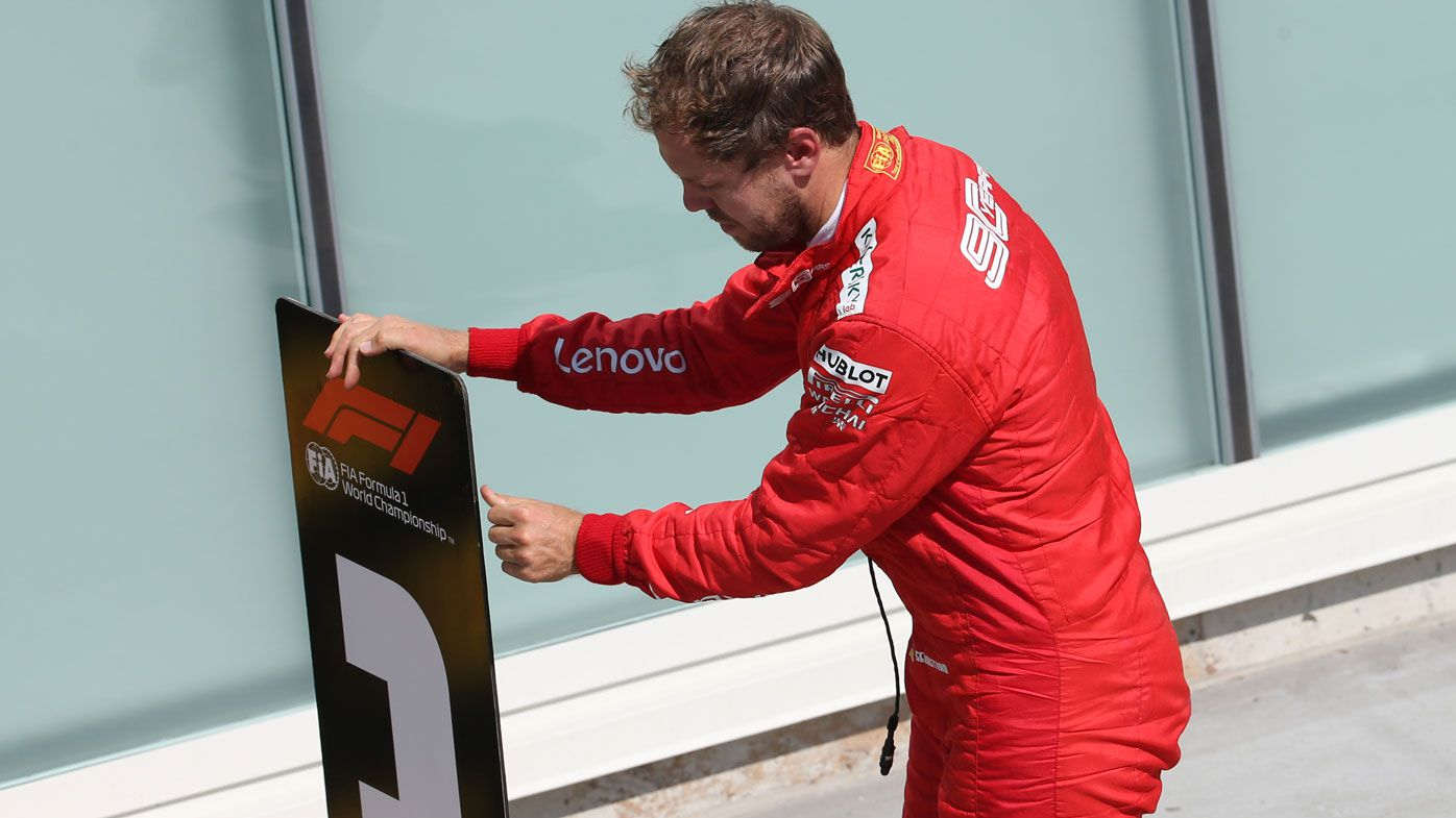 Sebastian Vettel stages protest after penalty strips F1 Canadian Grand Prix win