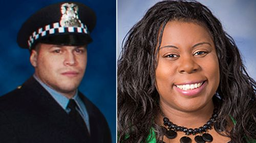 Police officer  Samuel Jimenez and Dr Tamara O'Neal were killed in the shooting by gunman Juan Lopez, a former boyfriend of O'Neal.