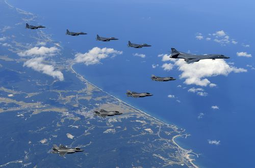 A joint military exercise last year by South Korean and US military - North Korea fears a repeat.