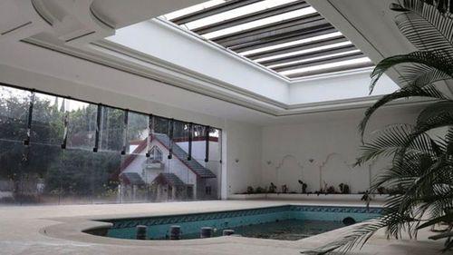 The swimming pool at the villa