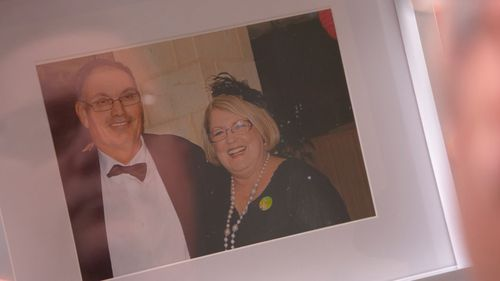 School principal Trish Antulov was found dead at her desk earlier this year after having suffered a heart attack on the back of many 14-hour days spent in her office. Picture: 60 Minutes