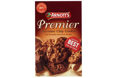 Arnott's Premier Chocolate Chip: 5.6g sugar per biscuit