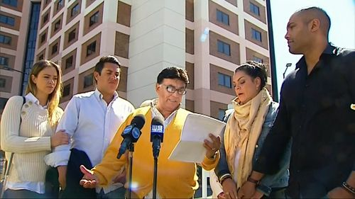 Bert Vieira and his family have spoken outside of St George Hospital to confirm he is suing NSW Police over the crash.