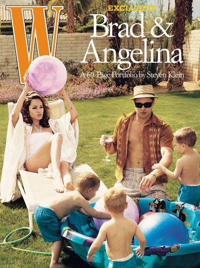 Brad Pitt and Angelina Jolie on W Magazine.