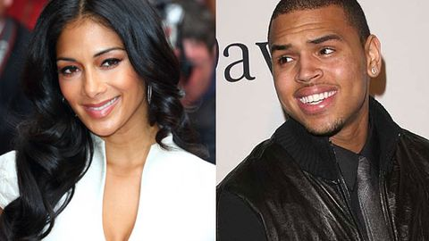 'We weren't kissing, we were talking,' Nicole Scherzinger denies pashing Chris Brown