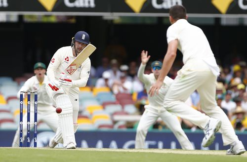 England's Mark Stoneman plays a shot. (AAP)