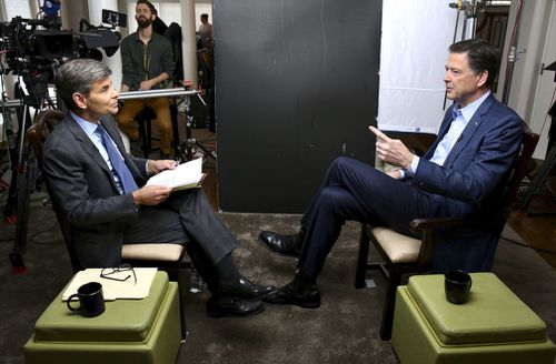 Mr Comey spoke with ABC News' George Stephanopoulos. (ABC News/AP)
