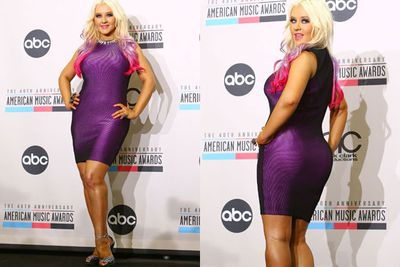 "In 2012, Aguilera made sure her critics got a look at her best side...her back side! <br/><br/>""The challenge I've always had is being too thin, so I love that now I have a booty, and obviously I love showing my cleavage."" <br/><br/>"