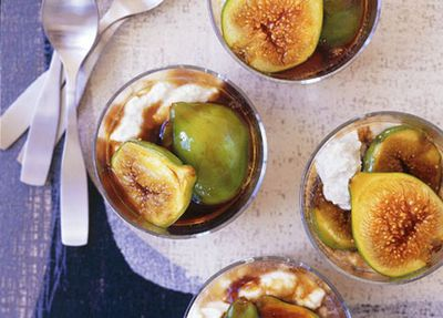 """Recipe: <a href=""""http://kitchen.nine.com.au/2016/05/19/19/26/balsamic-caramel-figs-with-ricotta-mousse"""" target=""""_top"""">Balsamic caramel figs with ricotta mousse</a>"""