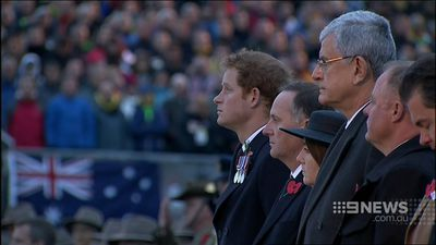 Australians gathered in silence to watch the Anzac Cove ceremony. (9NEWS)