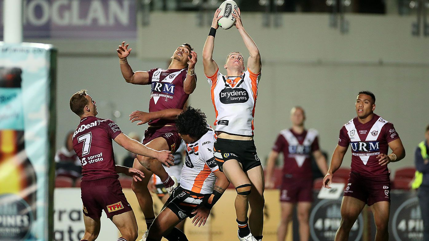 Wests Tigers steal win after staggering Manly collapse