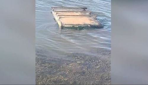The Landcruiser was found submerged at a lake near Mt Isa.