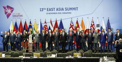 The leaders met at the ASEAN summit in Singapore.