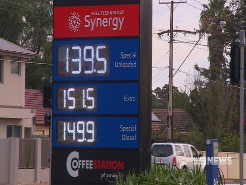 The price rise comes due to increased oil prices in the Middle East. Picture: 9NEWS.