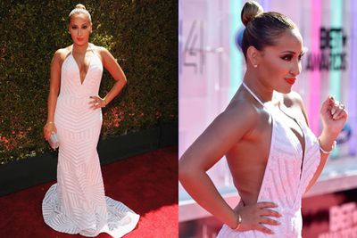 Don't look now Rob Kardashian!<br/><br/>The reality TV star's super-sexy ex flaunts her fine figure at the BET awards.