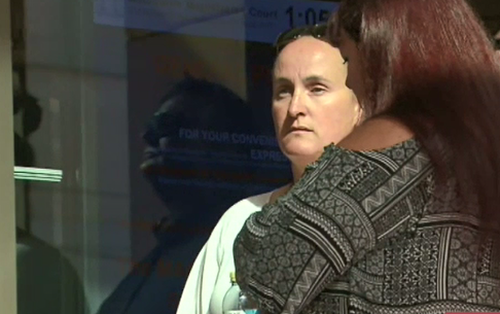 More than 22 years later, Ms Horvath gave evidence in court today over the alleged police bashing. (9NEWS)