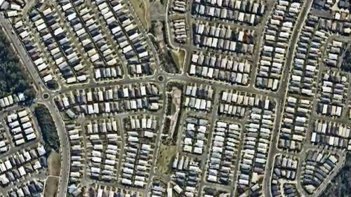 Nearmap shows how bushland has made way for neat rows of homes.