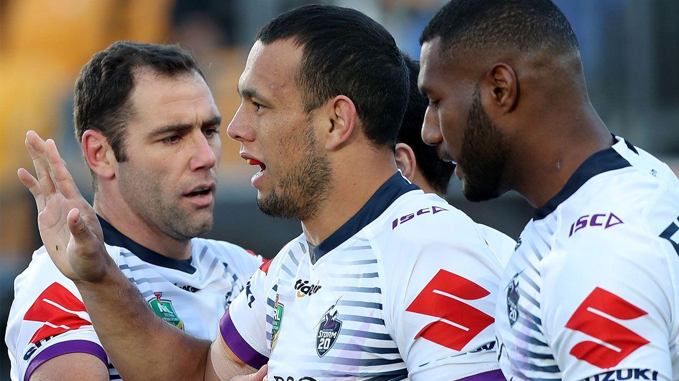 NRL: Melbourne Storm see off Warriors to go top of NRL ladder